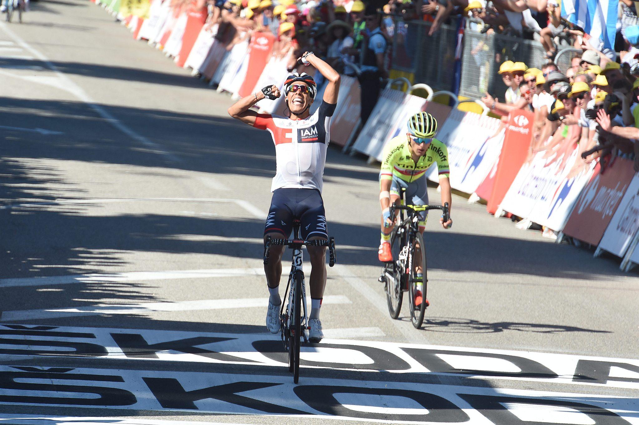 17-07-2016 Tour De France; Tappa 15 Bourg En Bresse - Culoz; 2016, Iam Cycling; 2016, Tinkoff; Pantano Gomez, Jarlinson; Majka, Rafal; Culoz;