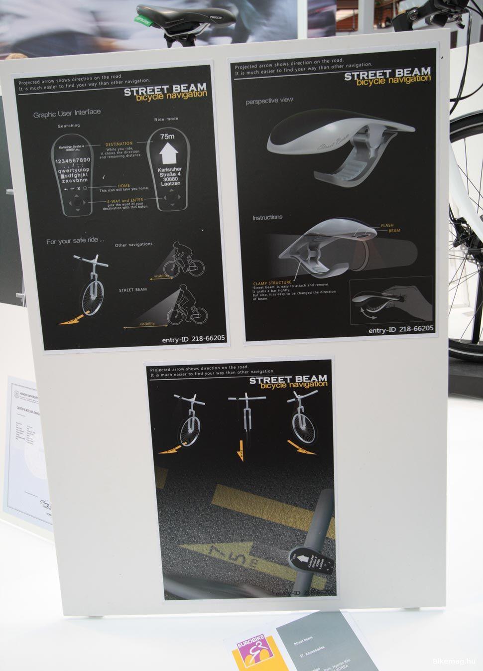 Eurobike Award - STREET BEAM kerékpáros navigáció