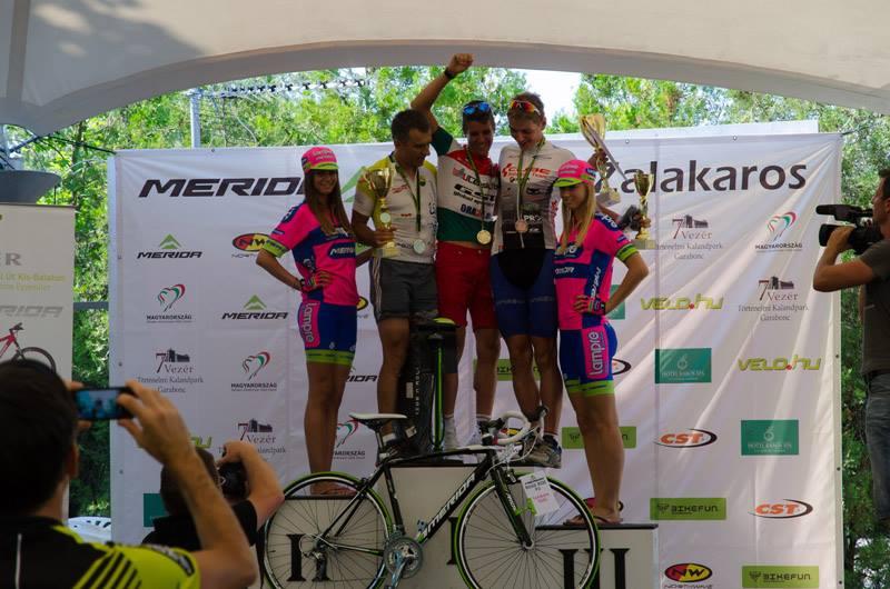 A 118 km-es táv első három helyezettje