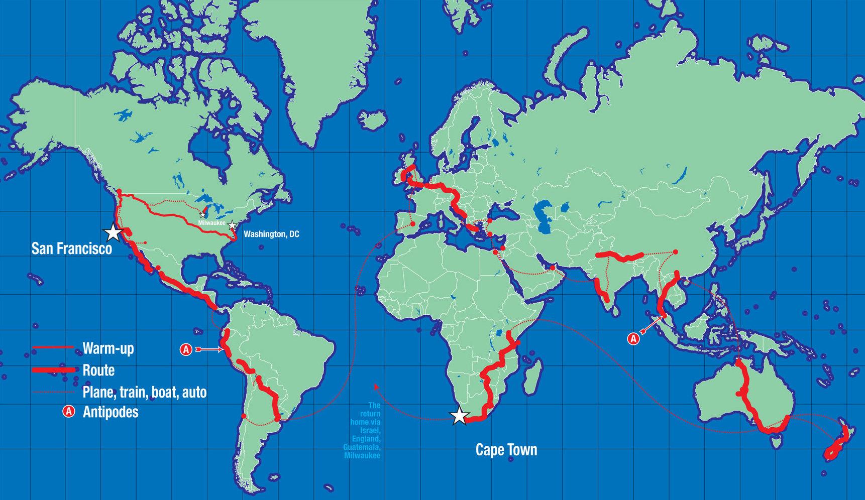 A rekordhoz valójában nem is kell a bolygót megkerülni: lényeg a két ellentétes pont, a 29.000, illetve a 40.075 km!