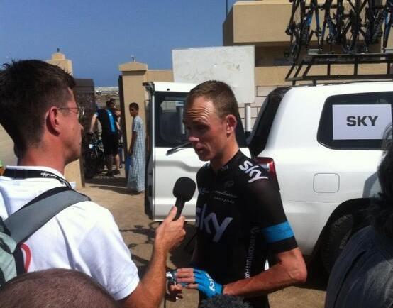 Froome a Tour of Oman rajtjánál
