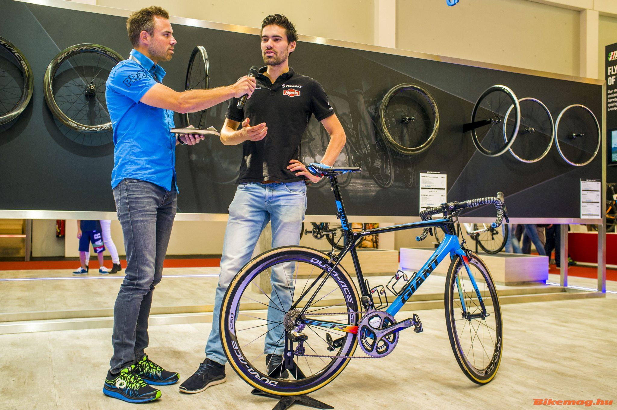 Például Tom Dumoulin először népszerűsítette a márkát az Eurobike-on