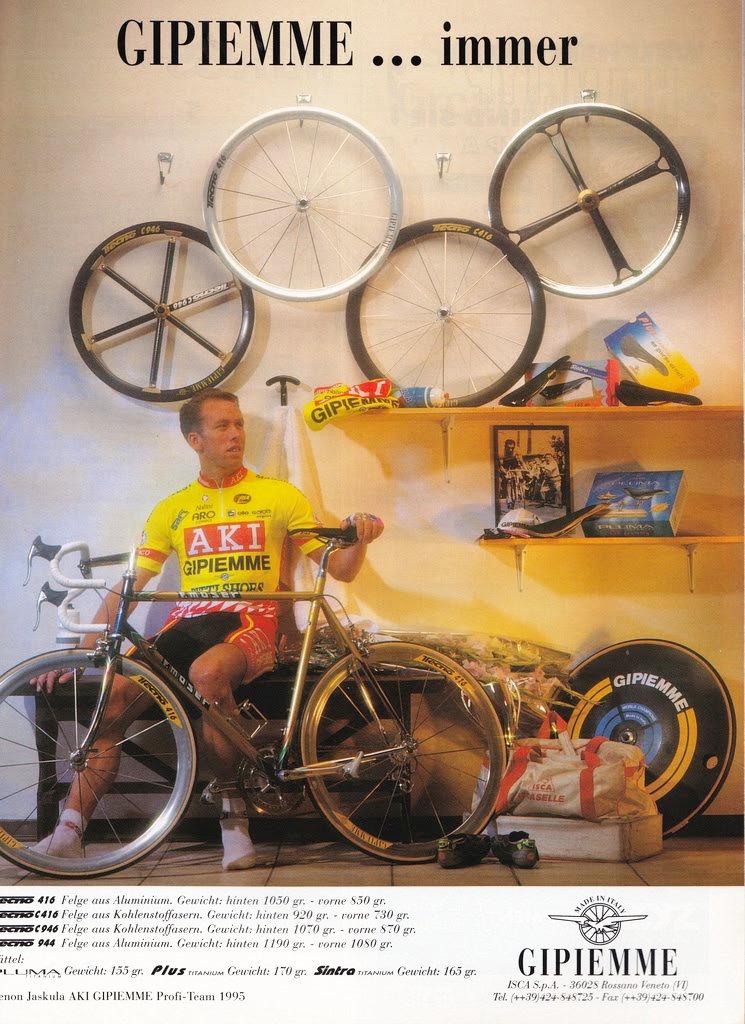A Gipiemme a 90-es években az új irányítás alatt a kész kerékszettekre specializálódott...