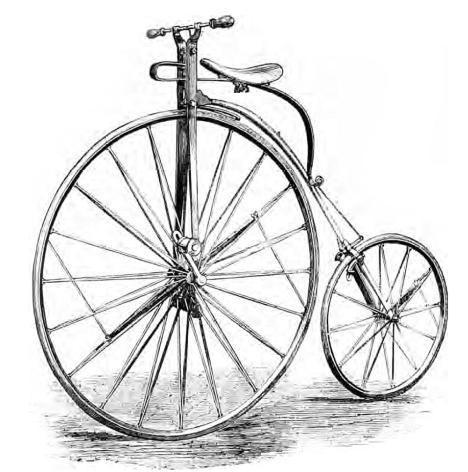 Az egyre nagyobb átmérőjű első kerék fokozza a sebességet, de ezzel arányosan csökkenti a fékezhetőséget