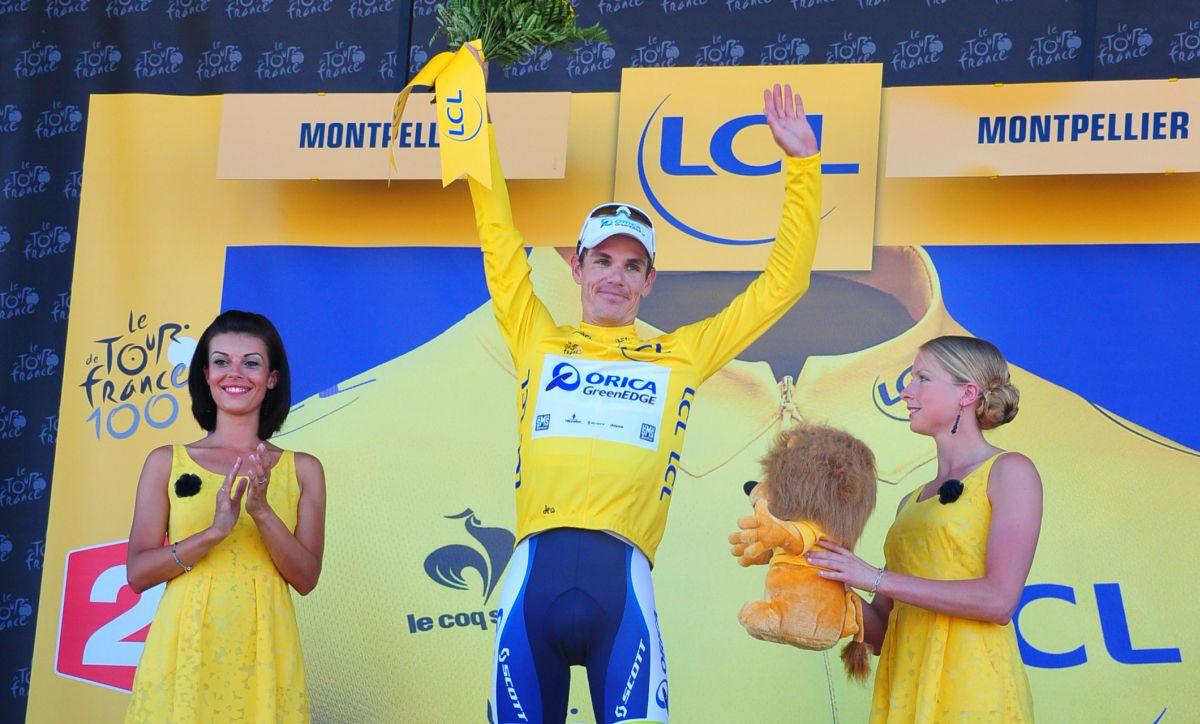 Impey az első dél-afrikai sárga trikós a Touron (Fotó: Stefano Sirotti - sirotti.it)