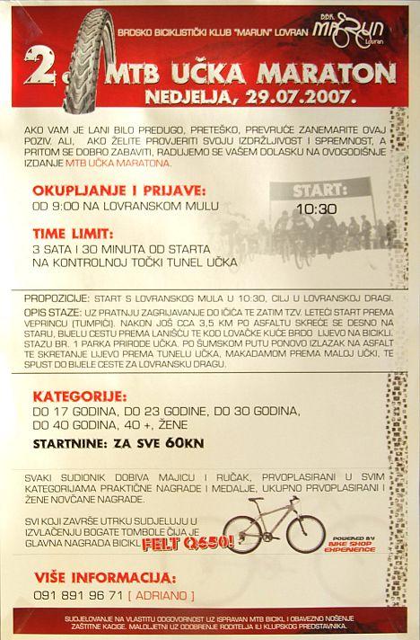Az Učka Maraton plakátja...