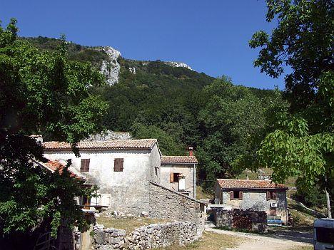 A legmagasabban fekvő isztriai település: Mali Učka...