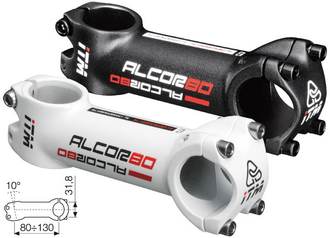 ITM, Alcor 80, kormányszár, kerékpáralkatrész, kormány, stucni, nyeregcső, BikeArt, Az olasz ITM kínálata ismét minden szinten kapható Magyarországon, a prémium karbon alkatrészek mellett a kimondottan kedvező árú alumínium kiegészítők is megtalálhatók a palettán. Utóbbiak egyik képviselője az Alcor 80 családba tartozó kormányszár.