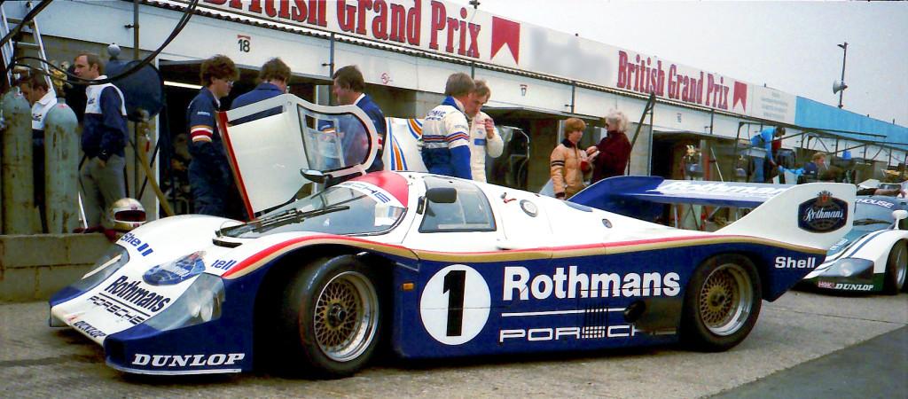 Ickx Le Mans győztes Porsche 956 versenyautója