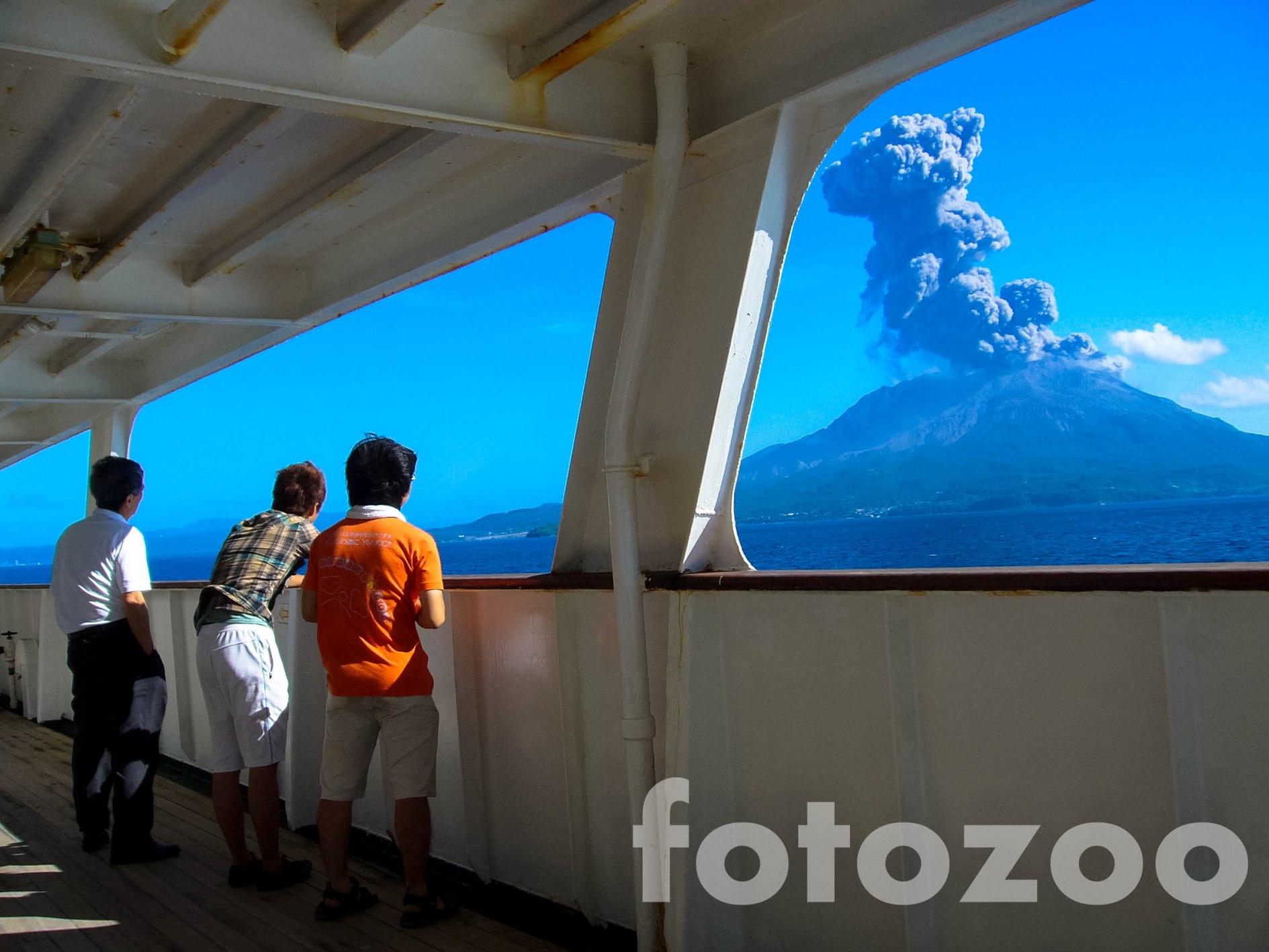 Másnap a hajóról azért teljesen más megvilágításba kerül Sakurajima, a 'gonosz' tűzhányó.