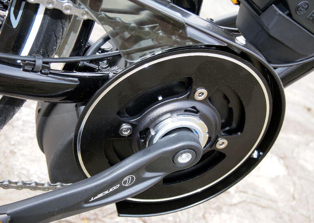 A Bosch motor- és meghajtásegység a vázba integrált, csak erre tervezett kerékpárba építhető be...