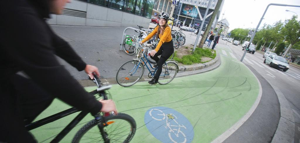 kerékpársáv Bécsben