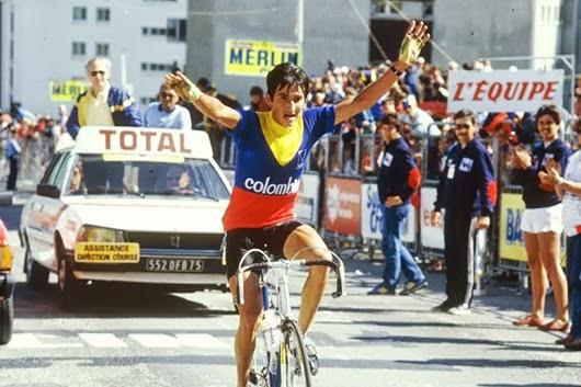 Lucho 1984-ben a Alpe d'Huez-i befutón: Viva Columbia!