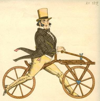 """A Draisine """"futókerékpár"""""""