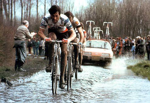 Az 1980-as Párizs-Roubaix-n ismét Moser diadalmaskodott...
