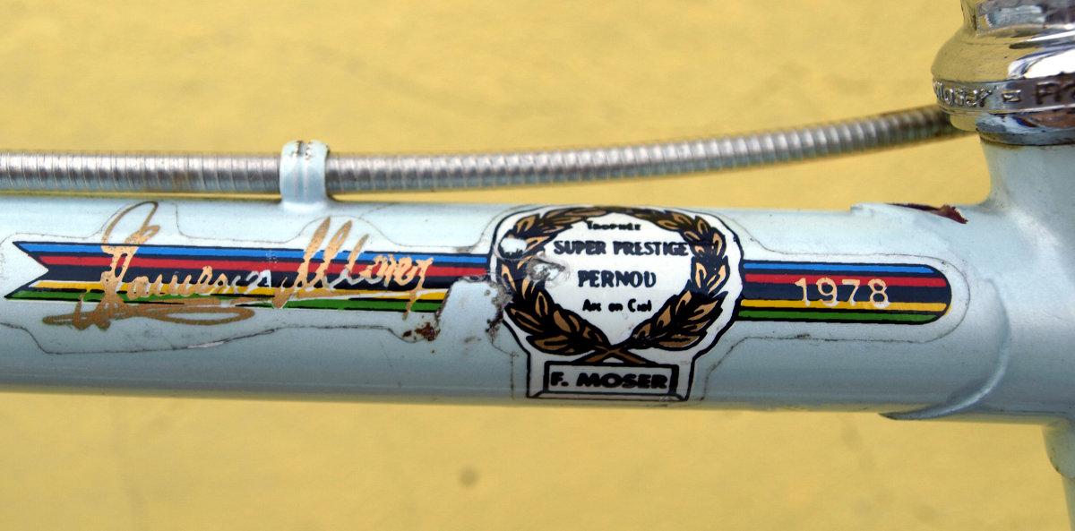 Az egyórás világcsúcs emlékére készített Moser kerékpár