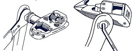 A pedál fel- és leszerelése általában kétféleképpen történhet...