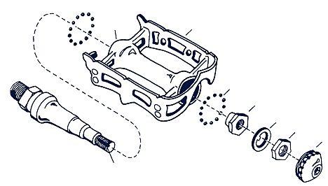 A pedálcsapágyozás rendszere külső porvédős típusok esetén...