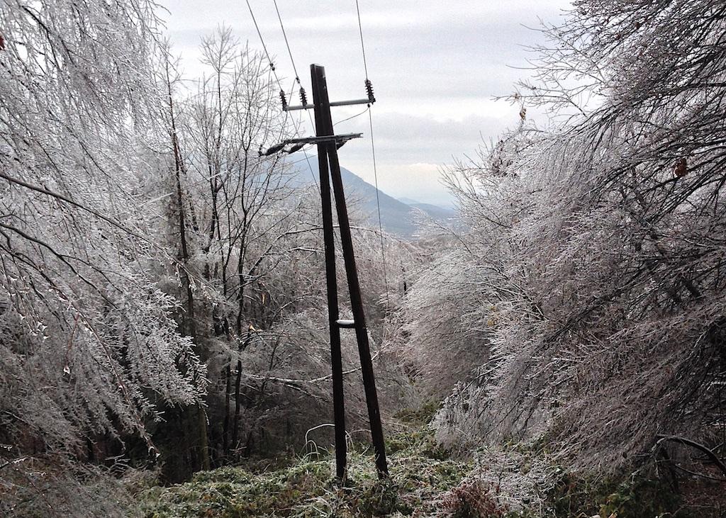 Az elektromos hálózatot is komoly csapás érte