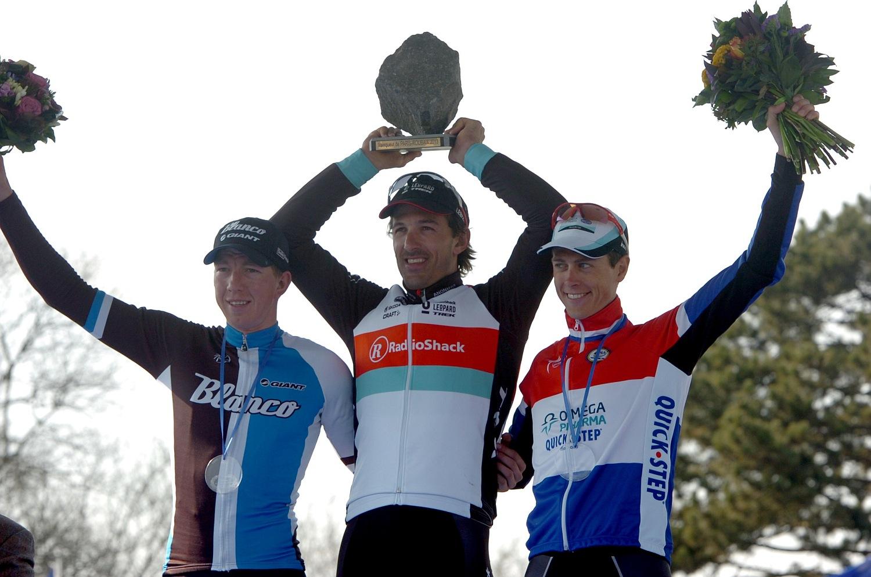 """A mezőnyből hiányzó nagy vetélytársról, a belga Tom Boonenről is említést tett Cancellara a verseny utáni sajtótájékoztatón: """"Nem szeretném azt mondani, hogy bármelyikünk erősebb a másiknál. Egyszerűen azt gondolom, az utóbbi években mi vagyunk a legjobb versenyzők ezeken a viadalokon."""""""