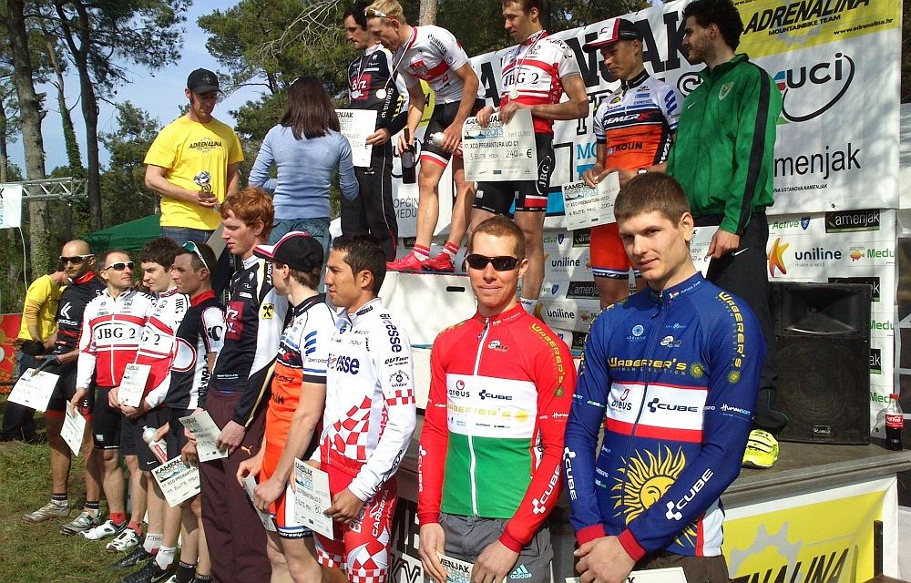 Jobb alsó sarokban: Parti András (bajnoki mezben) és juhász Zsolt