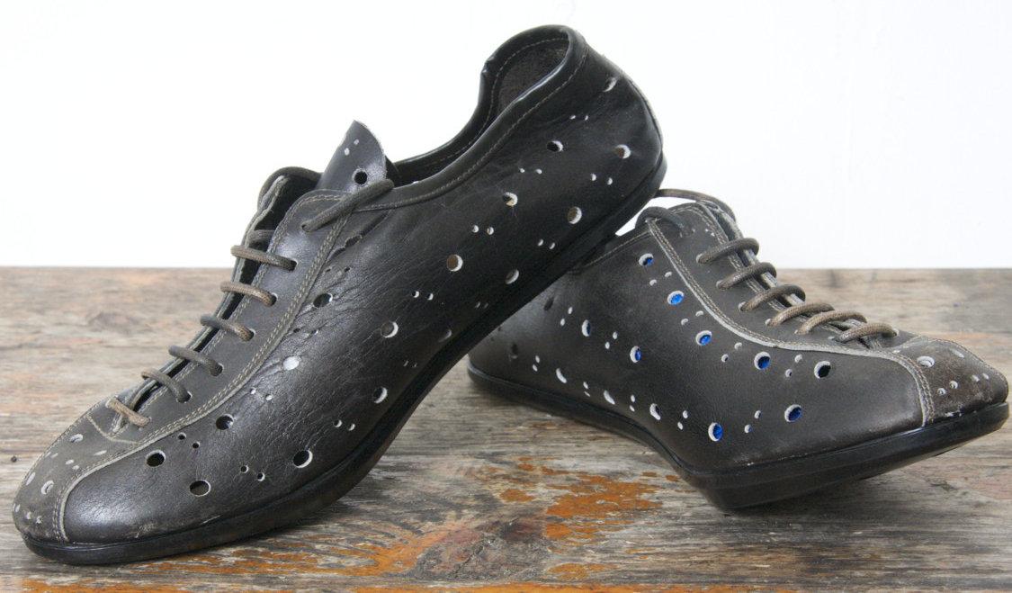 Kerékpáros cipő a 60-as évekből