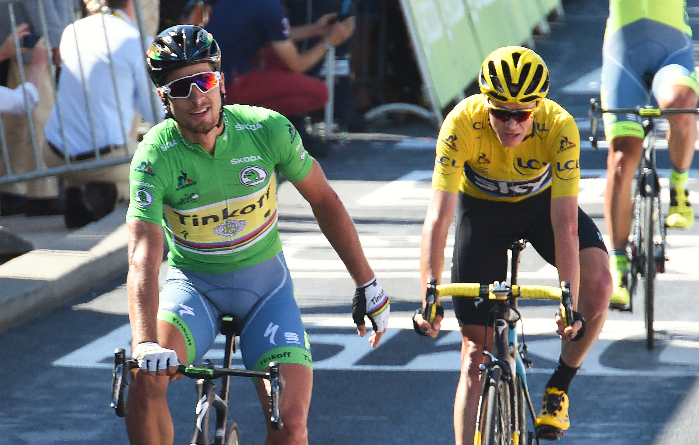 13-07-2016 Tour De France; Tappa 11 Carcassonne - Montpellier; 2016, Tinkoff; 2016, Team Sky; Sagan, Peter; Froome, Christopher; Montpellier;