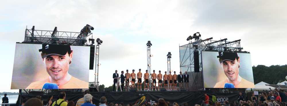 Samuel Sanchez és az Euskaltel a csapatbemutatón