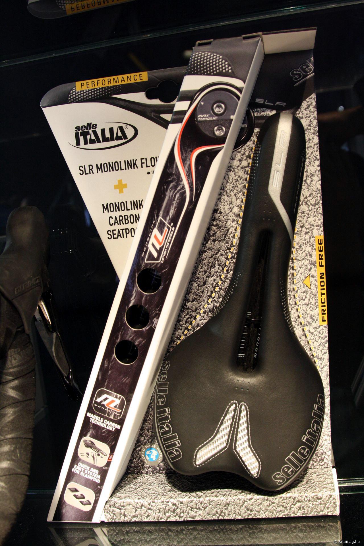 Selle Italia SLR + karbon Monolink nyeregcső szett