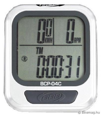 BBB BCP-04C kerékpár computer – fehér Team Edition