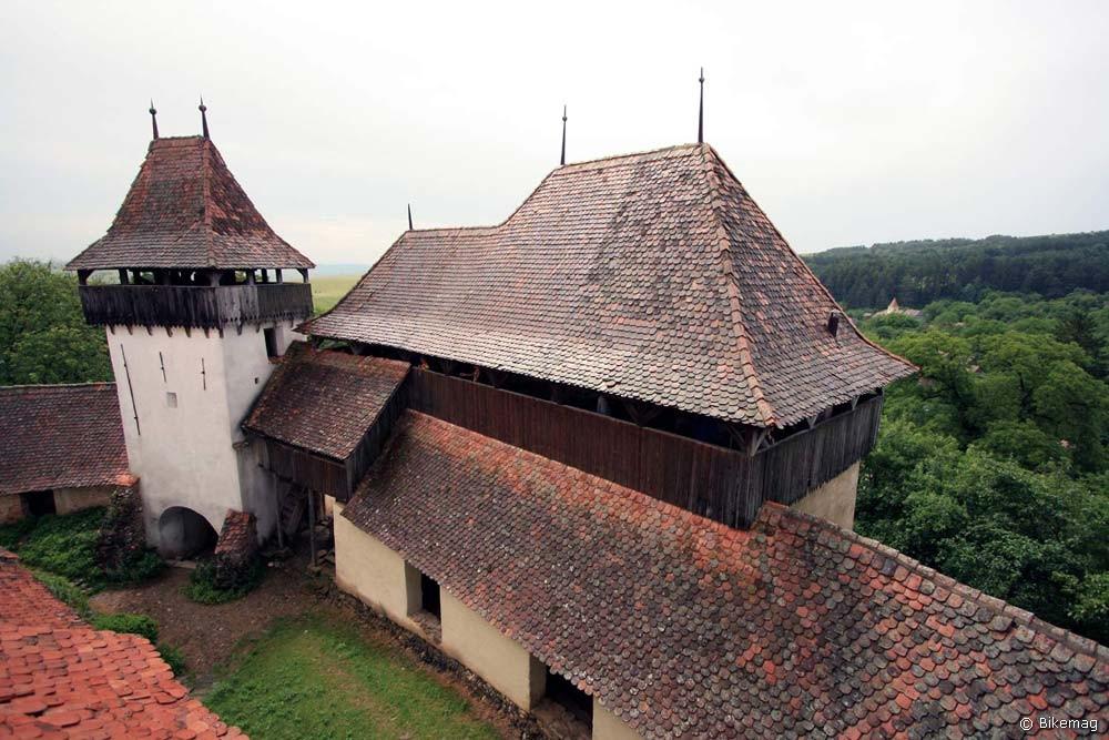 Erődtemplom bejárat a templomtoronyból