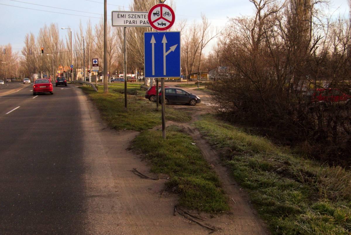 Veszélyes földút vagy tiltott aszfalt? Budapest és Pomáz felől ez a dilemma várja Szentendrén a bringást