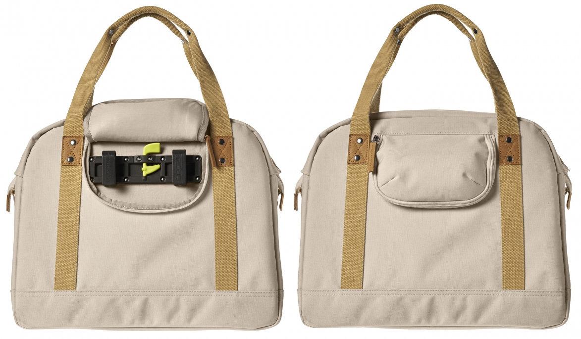 Designertáska, amely csomagtartón, kormánytáskaként a kerékpáron, leparkolás után pedig kézi divatos táskaként funkcionál. Már hazánkban is kapható ilyen modell!