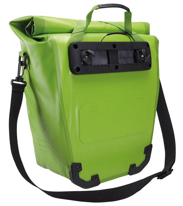 Vízhatlan és gyorsrögzítős hátsó csomagtartóra szerelhető táska: ha még több külön darabból is áll, akkor megvan a tökéletes táska a nagy bicajos kalandokhoz!