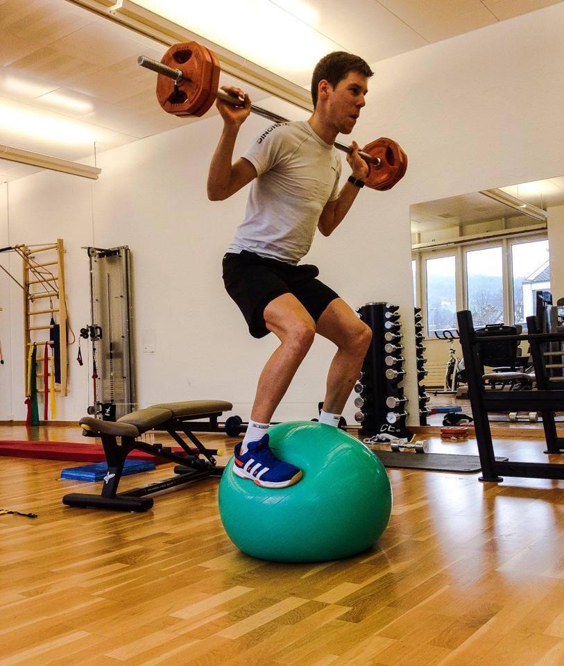Thomas Litscher edzés közben