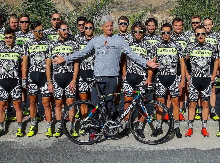 Oleg Tinkov és csapata Gran Canaria-n az új edzés-szerelésükben