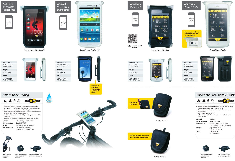 A Topeak számos innovatív kerékpáros kiegészítőt kínál okostelefonokhoz