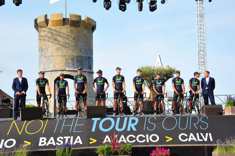 A pódiumon a Movistar, a Tour de France egyik legerősebb csapata