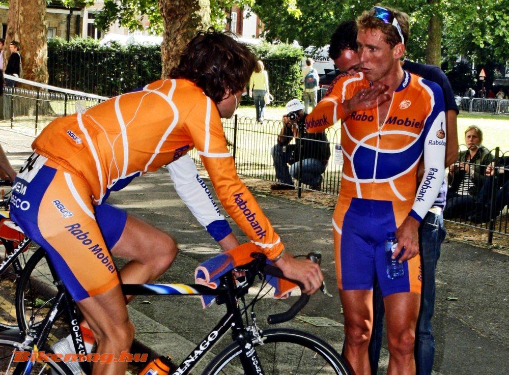 Boogerd az utolsó Tour de France-on (2007) az azóta szintén eltiltott fiatalabb csapattársával, Thomas Dekkerrel (Fotó: Takács Tamás)