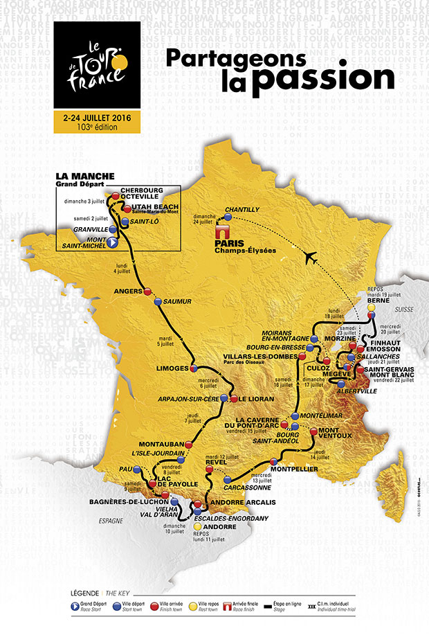 A teljes útvonal egy térképen