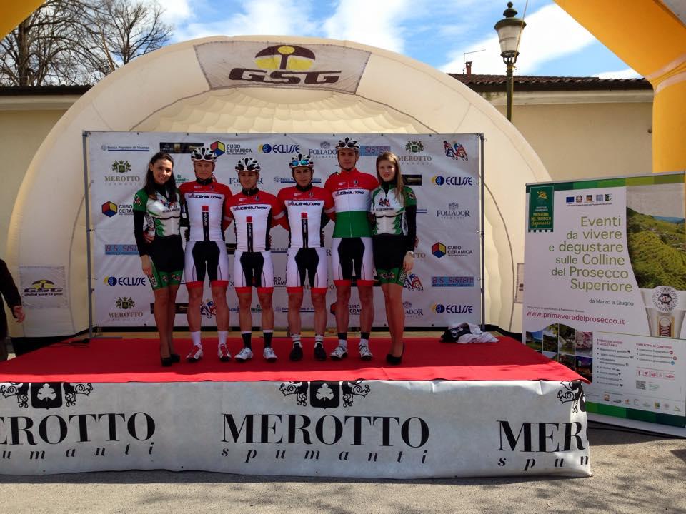 Az Utensilnord U23-as versenyzői a Trofeo Piva versenyen