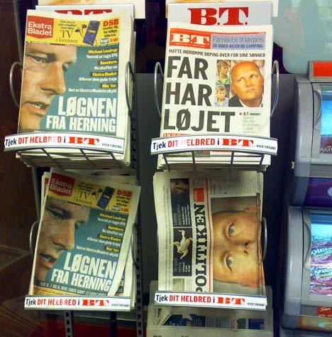 Bjarne Riis doppingbotránya a dán sajtóban...