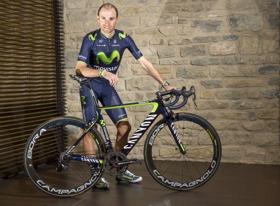 Alejandro Valverde az új bringával