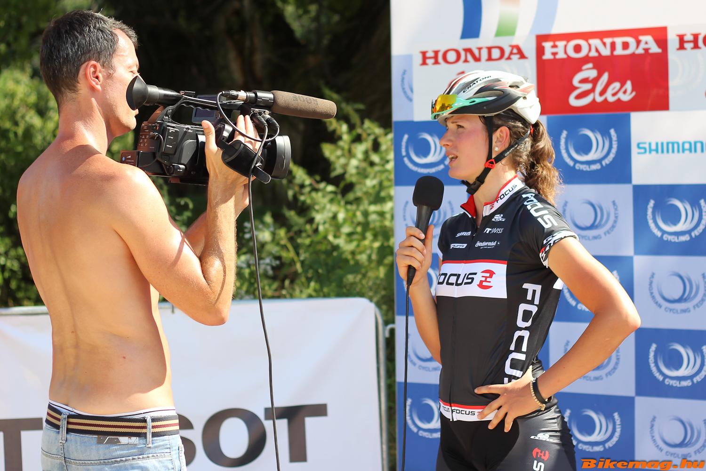 Benkó Barbara interjút ad a 19. bajnoki cím megszerzése után