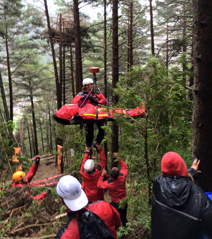 Zámbó Dávidot helikopter emeli ki az erdőből