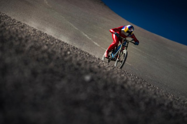 Markus Stoeckl performs during VMax 200 at the Atacama Desert, Chile on December 10, 2016
